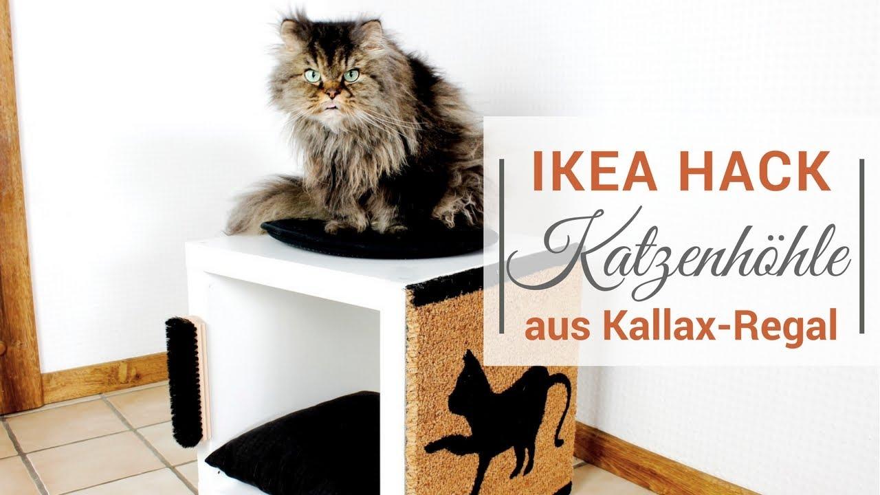 Ikea Hack Ein Kallax Regal Wird Zum Katzenkratzbaum Youtube