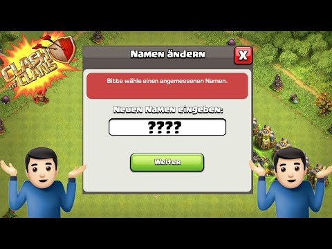 NAME ÄNDERN in CLASH OF CLANS! ☆ CoC