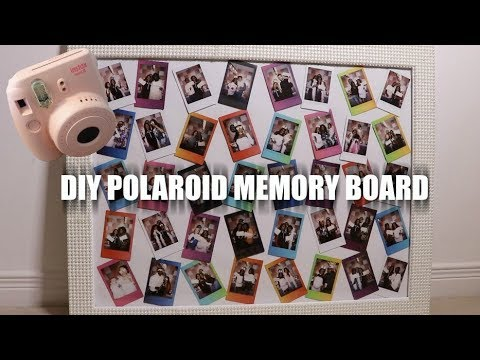 DIY BABY NURSERY PROJECT #1: POLAROID MEMORY BOARD/PICTURE FRAME!