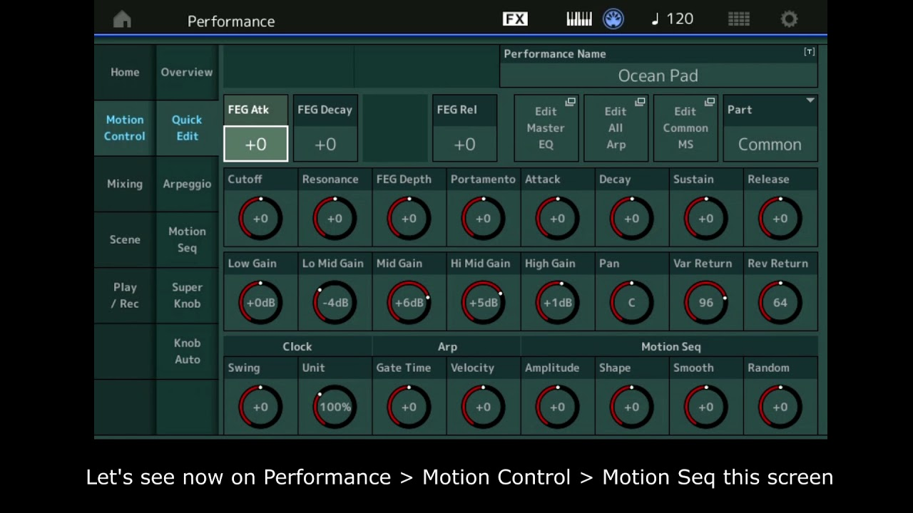 yamaha montage : motion sequencer basiques (french subtitle