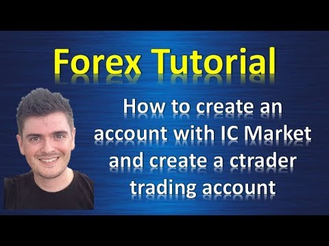 How to create a ctrader account with ICmarket