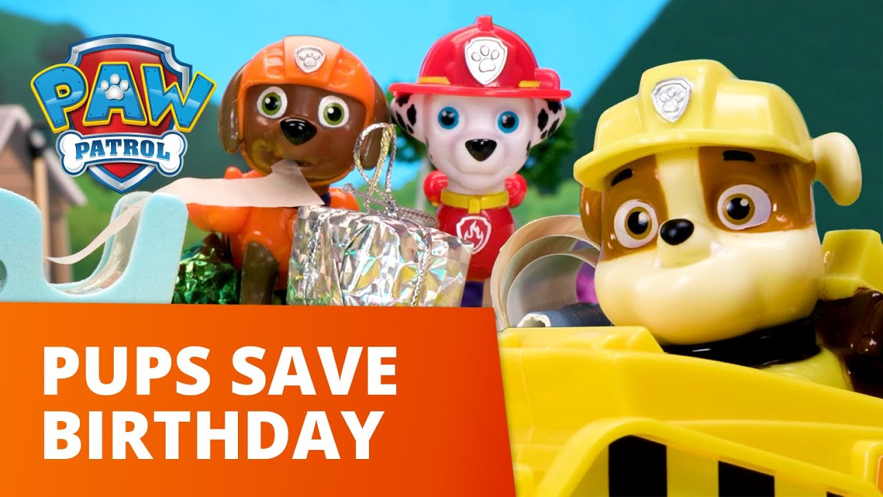 Pups Save The Surprise Birthday Party! 🥳 PAW Patrol Toy Pretend Play Rescue