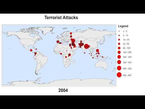 global terrorist attacks map