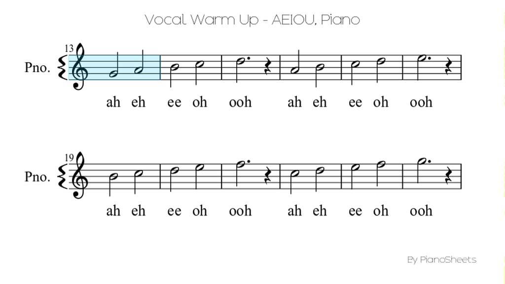 Vocal Warm Up - AEIOU [Piano Solo] - YouTube
