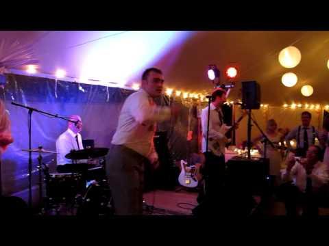 The groom getting his werewolf karaoke on!