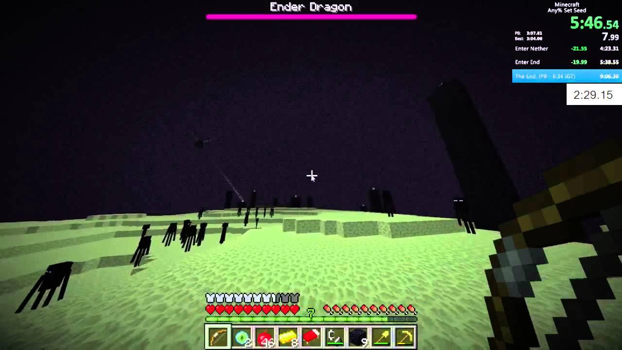 Minecraft Former World Record Speedrun - 11:11 (set seed with glitches)