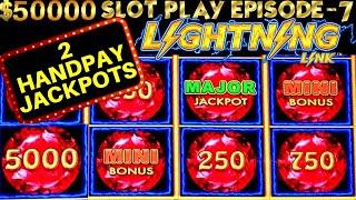 Lightning Link Slot Machine 2 HANDPAY JACKPOTS | SEASON 6 | EPISODE #7