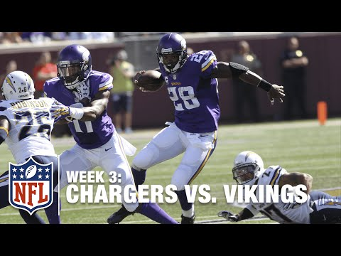 Adrian Peterson Runs Over the Chargers Defense for a 43-Yard TD! | Chargers vs. Vikings | NFL