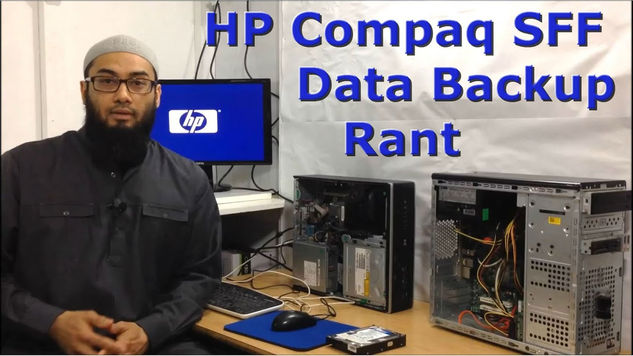 HP Elite Compaq 8100 Small Form Factor | Stuck On Logo | Not Starting Or  Booting Data Backup Rant