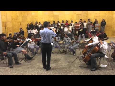 Ensayo, orquesta Colegio Artístico Juan Noé Crevani DAEM Arica.