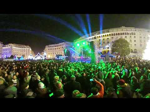360 video. New Year 2018 ! Aristotelous Square Thessaloniki