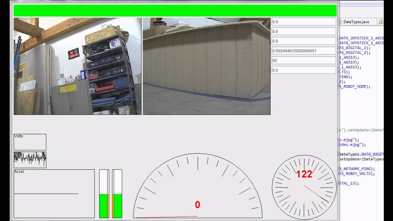 FIRST FRC 3540 2012 Custom Dashboard Demo + 2 cameras - YouTube