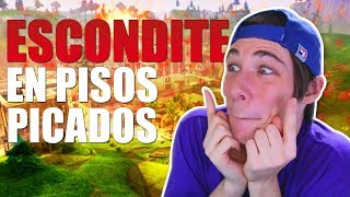 JUGANDO AL ESCONDITE en PISOS PICADOS *100 PERSONAS* FORTNITE Battle ROyale