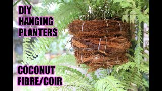 DIY Hanging Planters Flower Pot out of Coconut Fiber/Coir