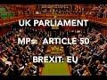 UK MPs Article 50 EU PARLIAMENT FOOTAGE Sky News