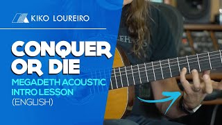 Conquer or Die - MEGADETH Acoustic intro lesson - ENGLISH