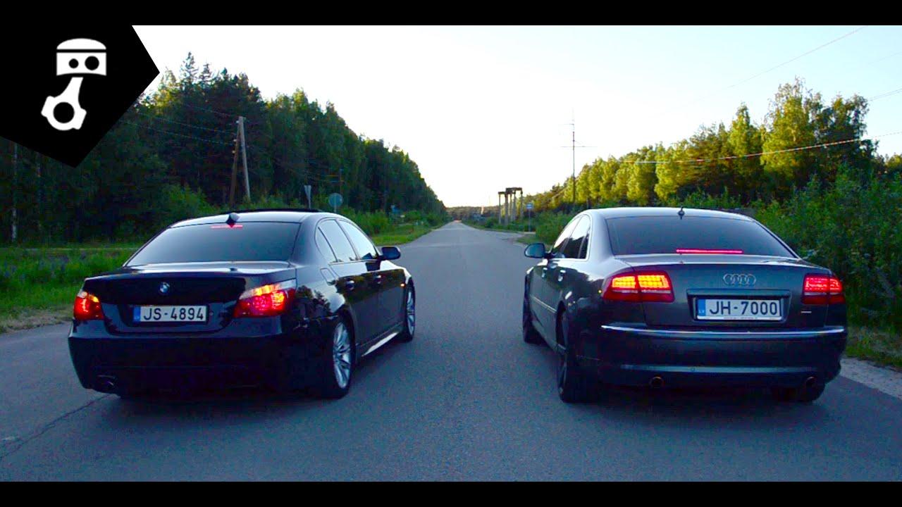 Audi A8 30tdi Vs Bmw 535d Drag Zhmuratv Youtube