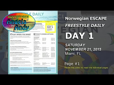 Norwegian ESCAPE Caribbean Cruise (Freestyle Daily)