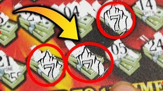 GOT THREE SEVEN SYMBOLS!    TRIPLE SEVENS $500,000 TOP PRIZE MI Lottery!