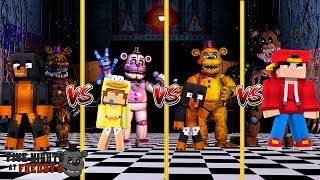 Minecraft FNAF FREDDY VS - FNAF VS FNAF SISTER LOCATION VS FNAF THE TWISTED ONES!!!!