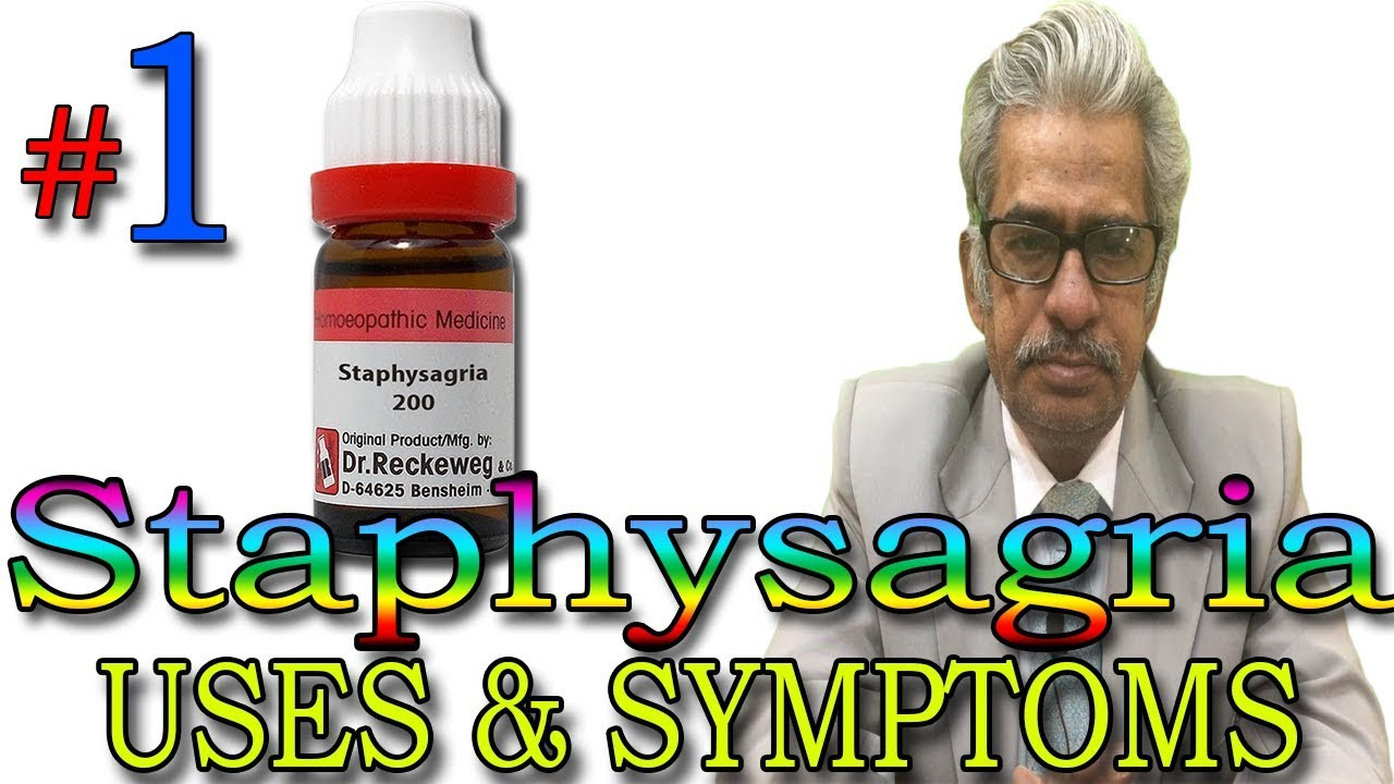 Homeopathy Medicine STAPHYSAGRIA (Part 1) in Hindi - Uses & Symptoms by Dr  P  S  Tiwari
