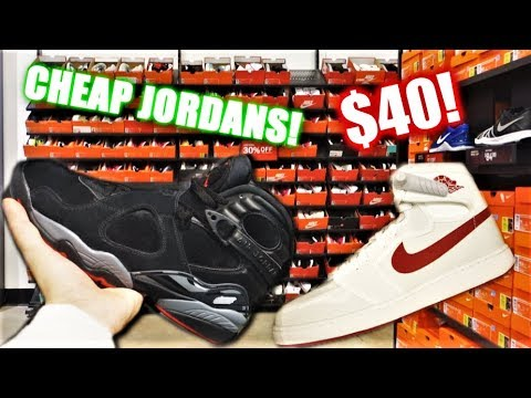 FINDING CHEAP AIR JORDANS At The NIKE OUTLET! SNEAKER SHOPPING!