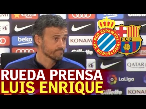 Espanyol-Barcelona | Rueda de prensa previa de Luis Enrique | Diario AS