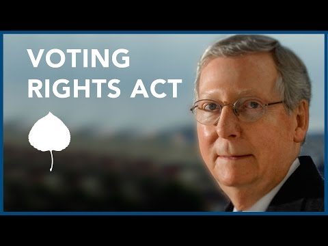 McConnell: GOP and the Voting Rights Act