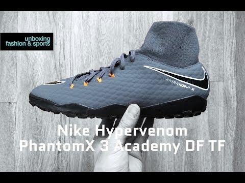 e26226a22 Nike HYPERVENOM PhantomX 3 Academy DF TF | UNBOXING & ON FEET | football  boots | 2018 | 4K - YouTube