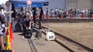 秩父鉄道「わくわく鉄道フェスタ2017」でのミニSL走行シーン