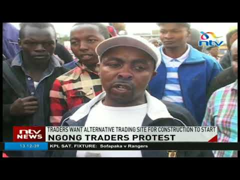 Ngong traders reject construction of new market at a cost of ksh 1b