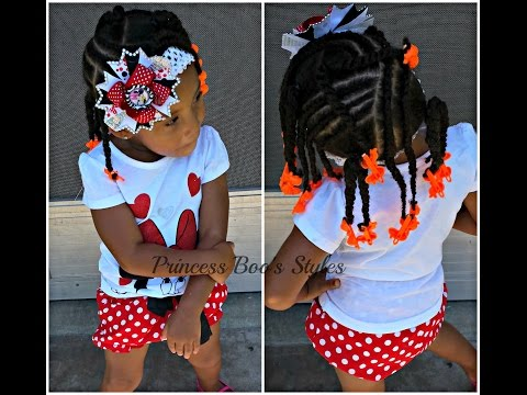 Princess Boo Tackling Toddlers Thick 4c Hair By Princess Divas