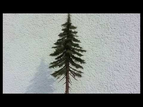 Building realistic model trees : Part 2 (spruce/conifer) – Modellbäume selber bauen