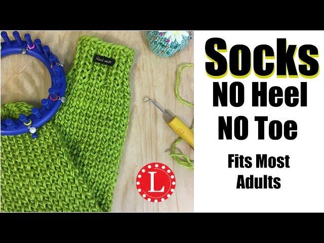 How To Loom Knit Socks On Round Loom No Heel No Toe No Folded Cuff