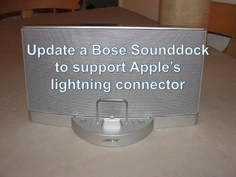 Update a Bose 30 pin Sounddock to Apple lightning connector supporting charging and audio  YouTube