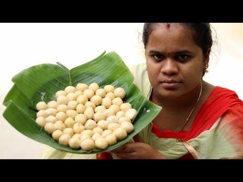 Cooking Sweet Milk Balls   Paal Kozhukattai Recipe   VILLAGE FOOD