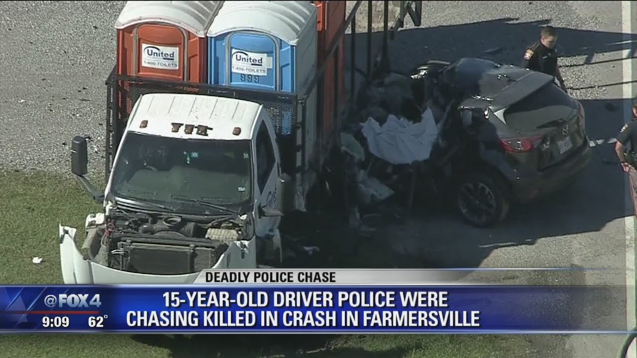 15yr old driver dies during police chase crash