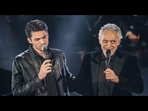 Sanremo 2019 Andrea e Matteo Bocelli cantano