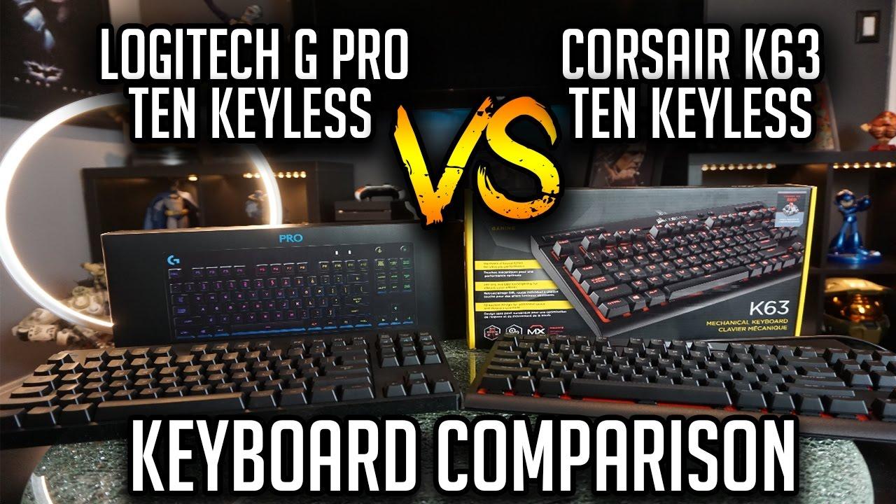 Logitech G Pro TKL VS Corsair K63 TKL Keyboard Comparison!!