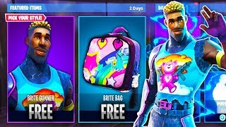 "How To Get The NEW ""Brite Gunner + Bag"" FOR *FREE!* - NEW Free Skin Update! (Fortnite Battle Royale)"