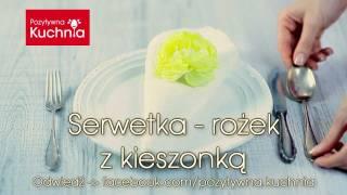 Serwetka rożek z kieszonką - jak złożyć | DOROTA.iN