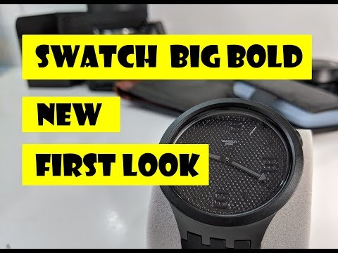 [FIRST LOOK] SWATCH Big Bold BLACK 2019 Collection