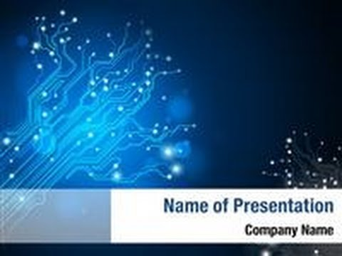 Circuit Board Tree PowerPoint Template Backgrounds