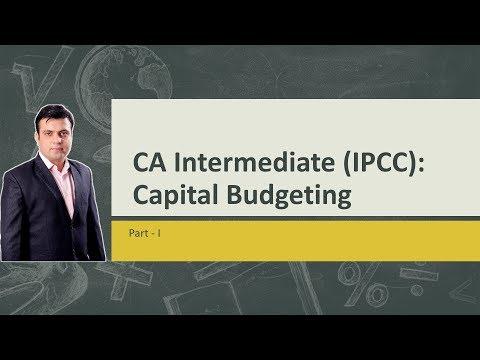 CA Intermediate (IPCC) - Capital Budgeting Part - I -Introduction