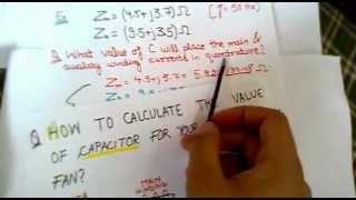 CALCULATE THE VALUE OF CAPACITOR FOR YOUR CEILING FAN