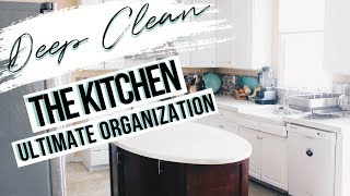 CLEAN WITH ME | KITCHEN CLEANING ROUTINE | ORGANIZATION + CLEANING HACKS