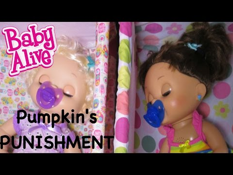 baby alive pumpkins punishment video