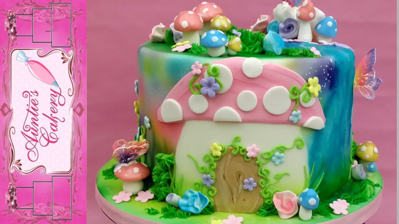 Enchanted Fairy Garden Cake Full Tutorial