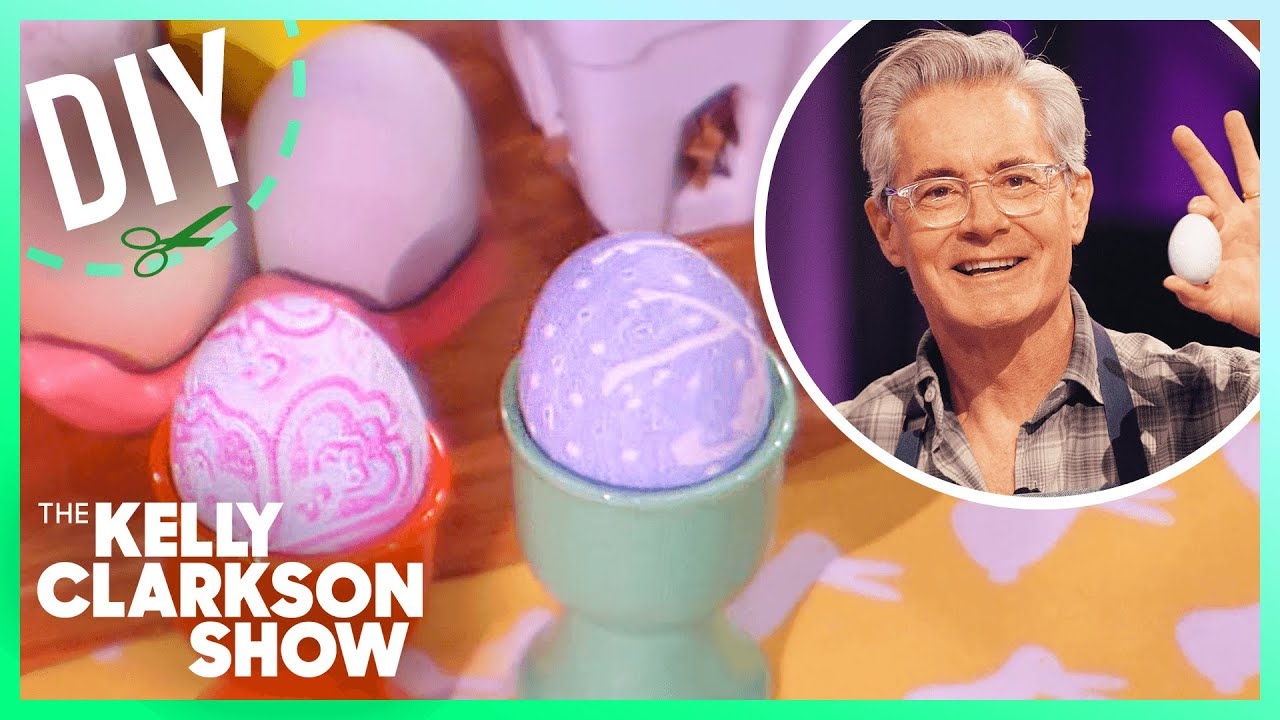 Kelly & Kyle MacLachlan Dye Easter Eggs With Silk