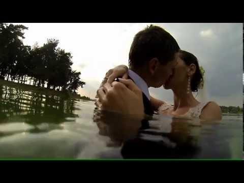 Plener Ślubny w wodzie; filmowanie Kraków
